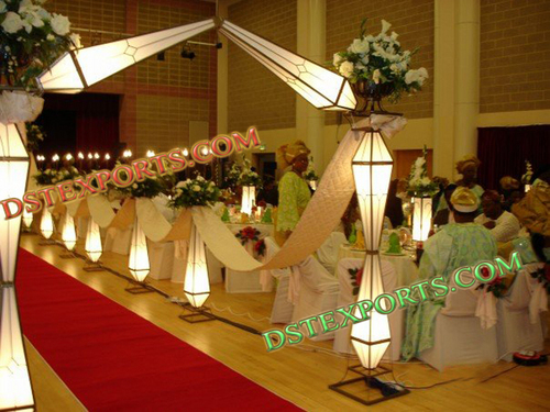 Wedding Lighted Diamond Gate Aisleway Pillars