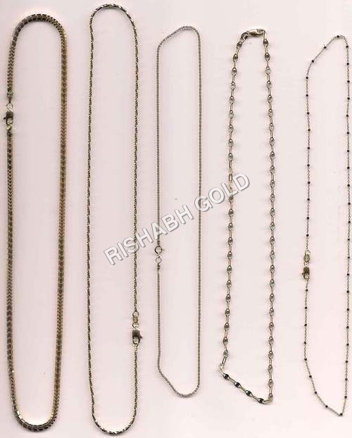 Simple Pure Gold Chain Set