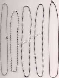 Ladies Platinum Chain Set