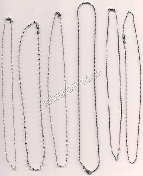 Mens Platinum Chain Set