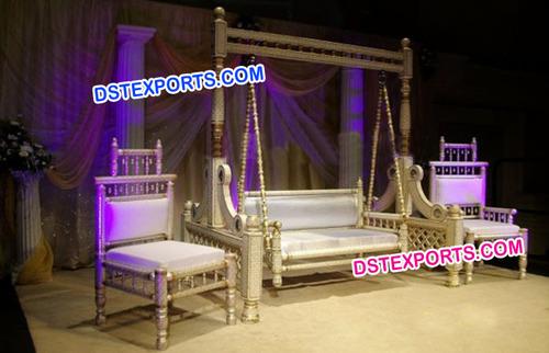 Indian Wedding Sankheda Swing with Chairs