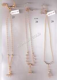 Ladies Gold Chain Set