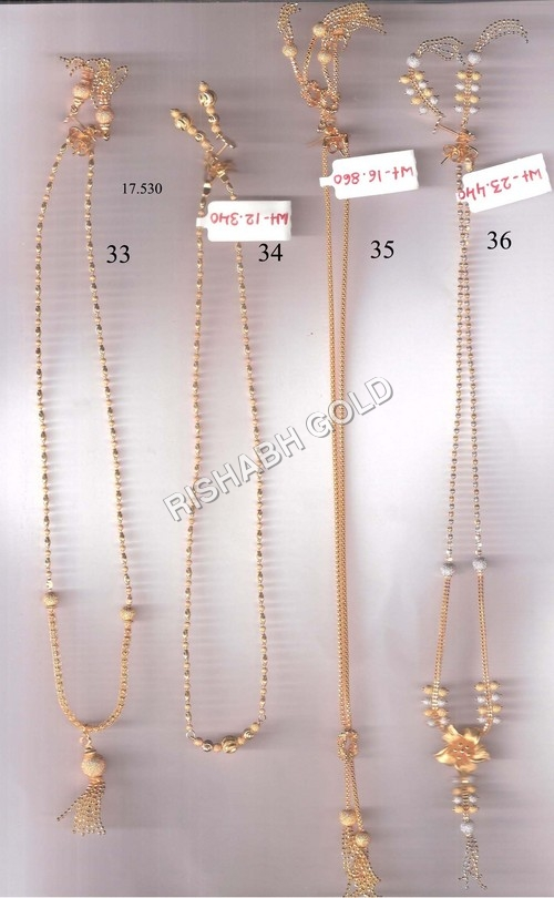 Fancy Gold Neck Chain Set