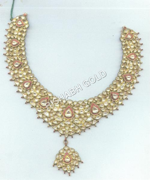 Studded Meena Necklace