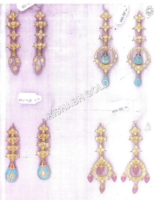 Traditional Kundan Meena Earrings