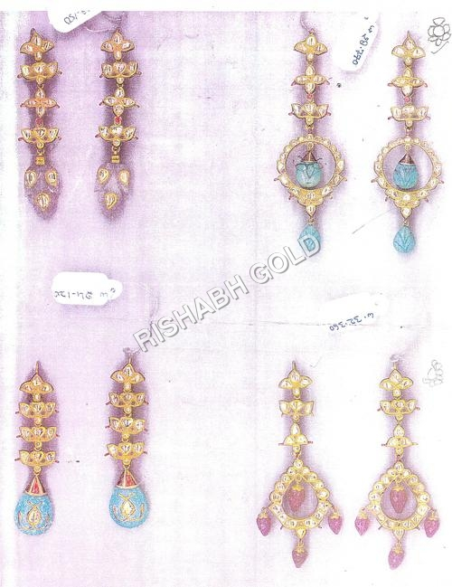 Traditional Kundan Meena Earrings