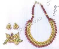 MEENA NECKLACE & EARING SET WITH KLIP
