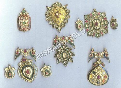 Traditional Meena Pendant Sets