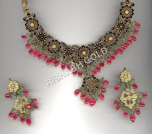 Designer Meena Necklace and Earring Set