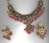 Designer Meena Necklace and Earring Set