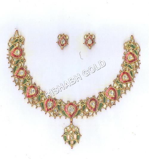 Fancy Kundan Necklace Set