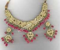 Gold Necklace Earring Set