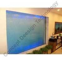 Glass Water Curtain with LED Colours