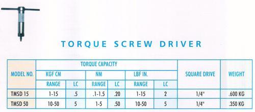 torque screw driver