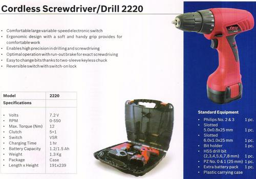 Cordless Screwdriver 2220