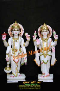 Marble Lakshmi Vishnu Statue