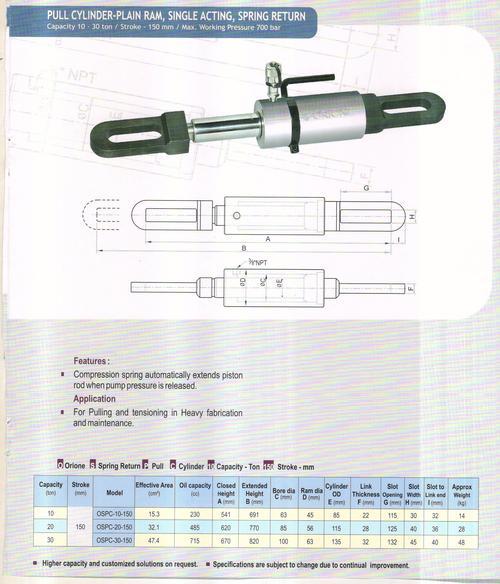 pull cylinder-plain ram