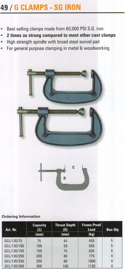 g clamps - sg iron