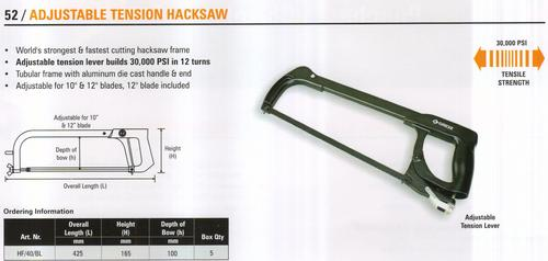 adjustable tension hacksaw