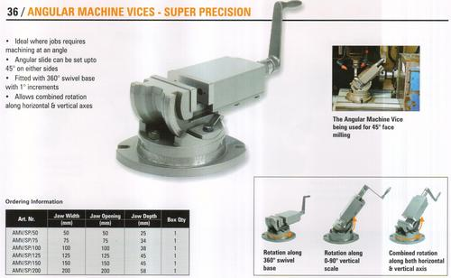 angular machine vices - super precision