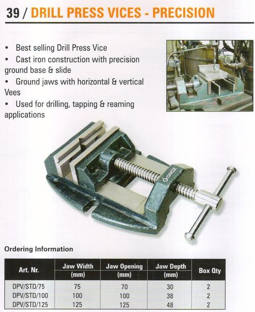 drill press vices - precision