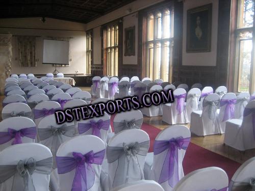 Wedding White Chair Cover With Tissue Sashas