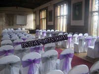 Wedding White Chair Cover With Tissue Sashas