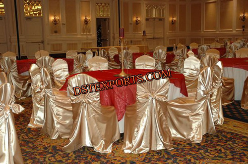 Wedding Golden Chair Cover With Tie Back 4545