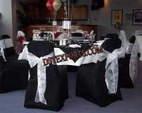 Wedding Black Chair Cover