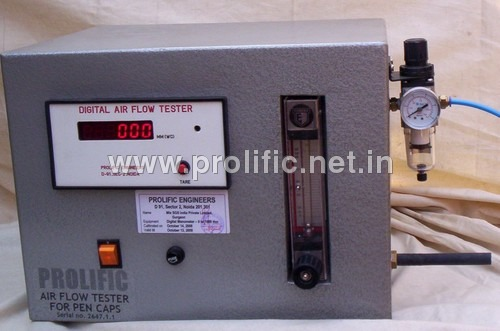Pen cap Air Flow Tester