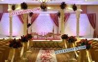 Elegant White Wedding Mandap