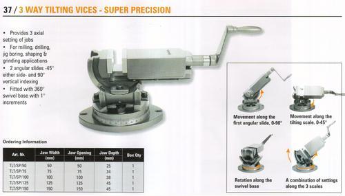 3 way tilting vices - super precision