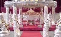 Fiber Crystal  Ganesha Pillar Mandap