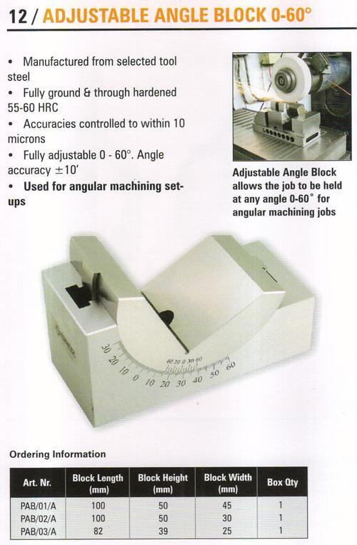 ajustable angle block 0-60