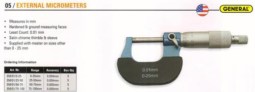 external micrometers