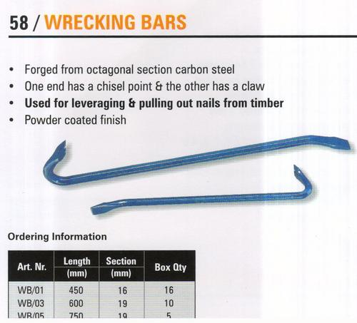 wrecking bars