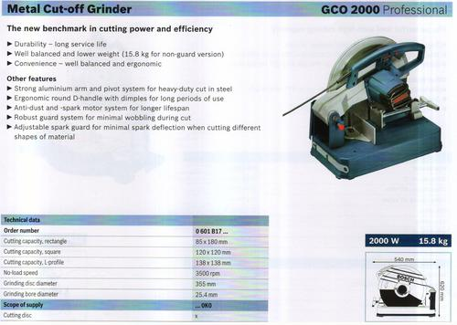 Metal Cut off Grinders (GCO 2000 Professional)