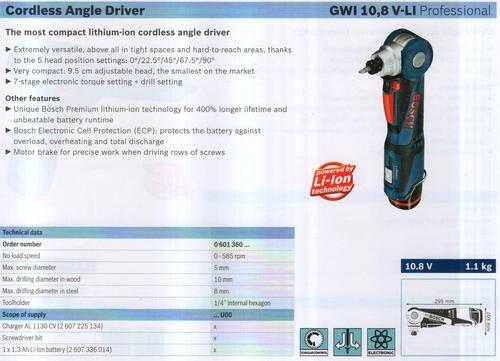 ANGLE DRIVER ( GWI 10,8V-LI Professional)