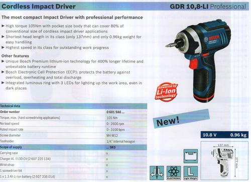 GDR 10 , 8-LI Professional
