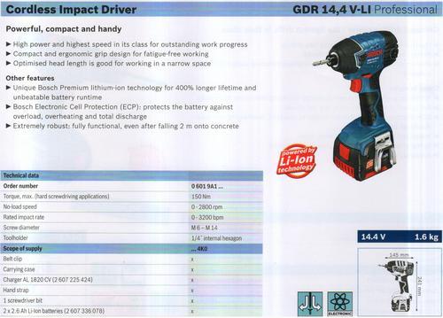 GDR 14,4V-LI Professional