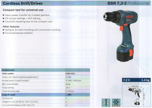 GSR 7,2-2 Professional