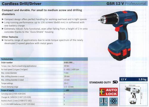 GSR 12V Professional
