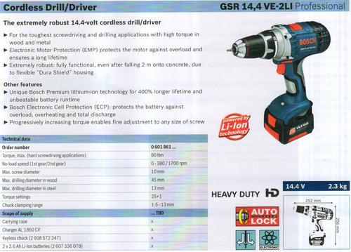 GSR 14,4VE-2LI Professional