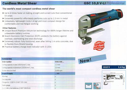 METAL SHEAR ( GSC 10,8V-LI Professional)