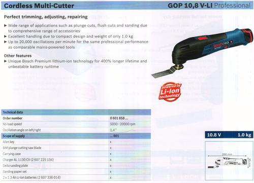 MULTI- CUTTER ( GOP 10,8V-LI Professional)