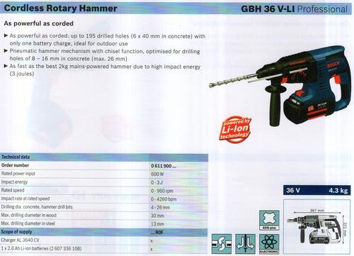 ROTARY HAMMER ( GBH 36V-LI Professional)