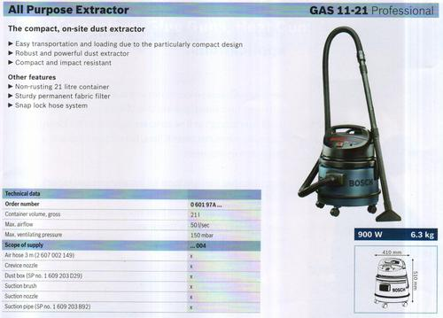 ALL PURPOSE EXTRACTOR ( GAS 11-21 Professional)