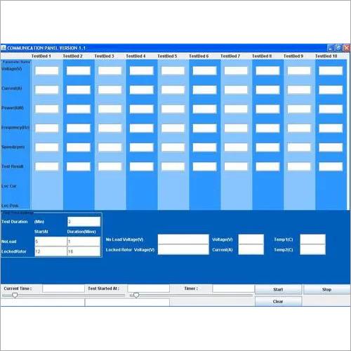Motor Testing Software