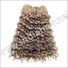 Brown Curly Human Hair