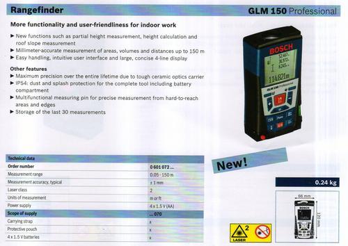 GLM 150 PROFESSIONAL